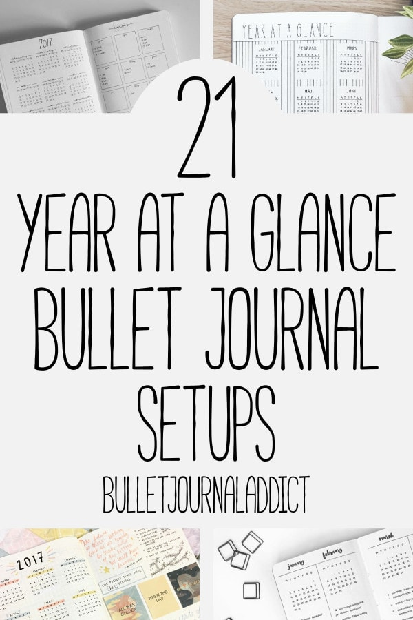 Bullet Journal Future Log Ideas - Year At A Glance Spreads for Bullet Journals - Bujo Inspiration for Future Logs and Year At A Glance Spreads - 21 Year At A Glace Bullet Journal Setups