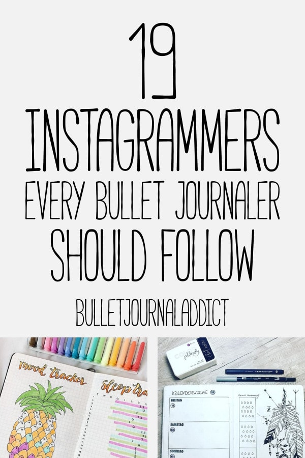 Bullet Journal Inspiration For Collections, Spreads, Layouts and Setups - Bullet Journal Ideas To Create A Beautiful Bullet Journal - 19 Instagrammers Every Bullet Journaler Should Follow