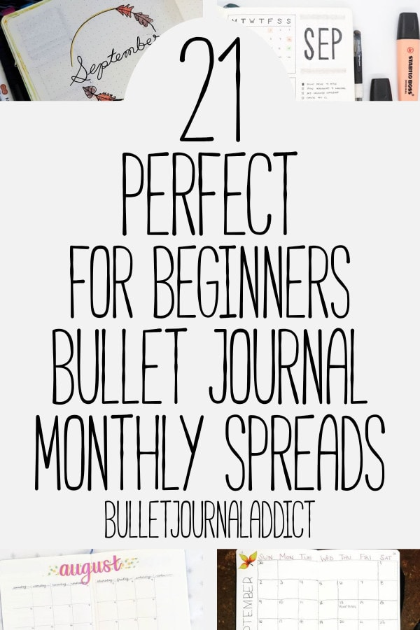 Bullet Journal Monthly Spreads For Beginners - Simple Bullet Journal Monthly Spreads - Minimalist Bullet Journal - 21 Perfect For Beginners Bullet Journal Monthly Spreads