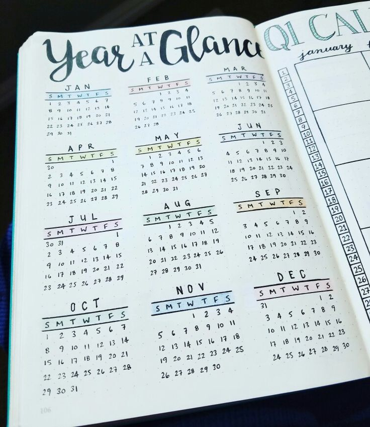 Simple Year At A Glance