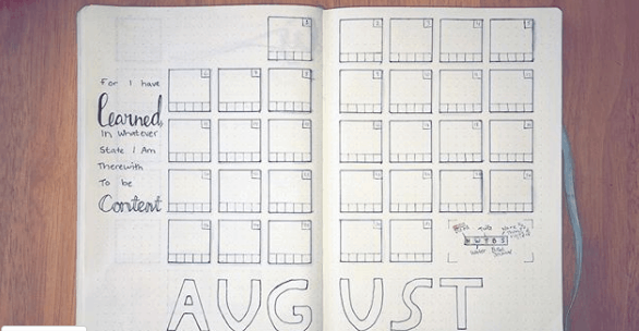 alinesbujo Two Page Monthly Spread