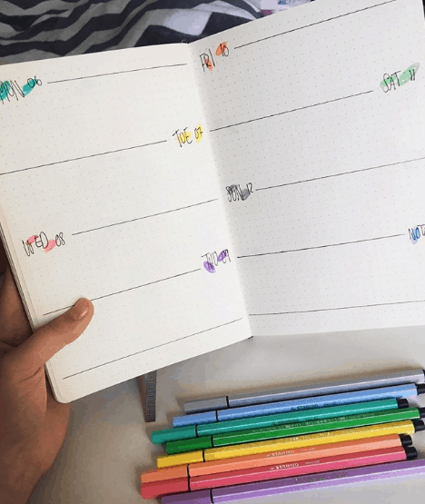 ct.study Two Page Weekly Spread