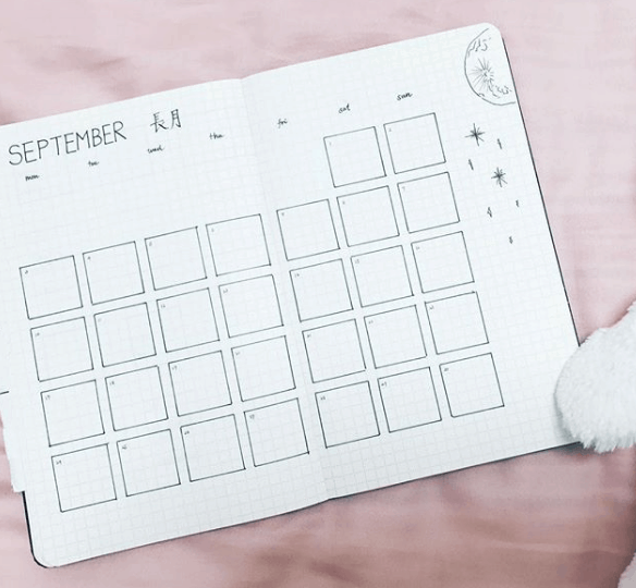how_yuki_organize Two Page Monthly Spread