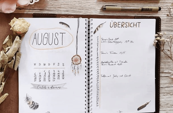 jenn.mit.n Two Page Monthly Spread