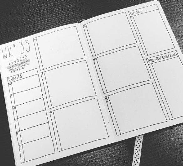 josbujo Two Page Weekly Spread