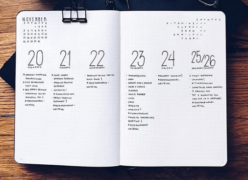 lookbullet Two Page Weekly Spread