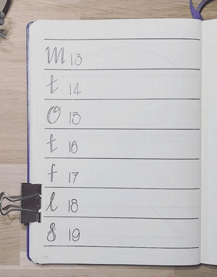 nordic.notes One Page Weekly Spread