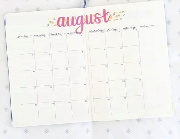 _studysisters_ Two Page Monthly Spread