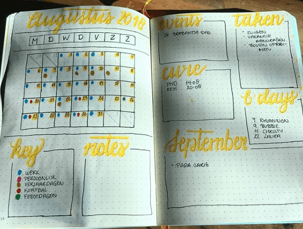 thedutchezzz1 Two Page Monthly Spread