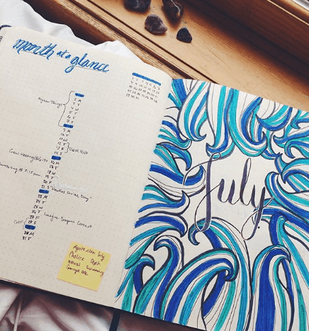 witchistudies Two Page Monthly Spread
